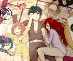Overlord at Sleep-Over!! from Hataraku Maou-sama! by *Hews-HacK. Haha, the Titan mask, funny