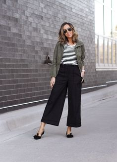 chicest pants on the block ~ Lilly Style - Outfit Ideen Summer Fashion Outfits, Work Fashion, Spring Summer Fashion, Fall Outfits, Casual Outfits, Style Summer, Outfit Winter, Cullotes Outfit Casual, High Fashion