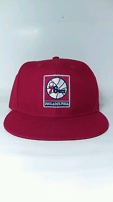 Philadelphia 76ers 47 twins snapback nba red mens adj