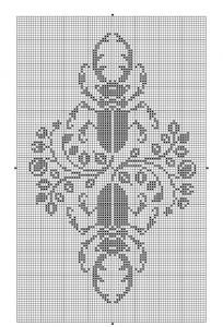 Animals 10   Free chart for cross-stitch, filet crochet   Chart for pattern - Gráfico