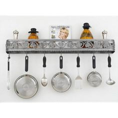 Fig Leaf Wall Pot Rack - H-80-