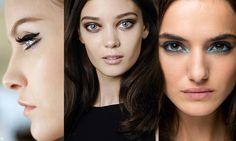 Oczy malowane w stylu pop-art: niebieska, seledynowa powieka z kreską, fluorescencyjna kreska, bądź cała powieka