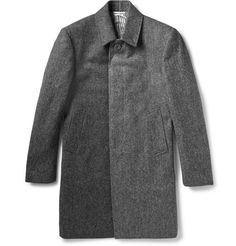 Thom Browne - Herringbone Wool-Tweed Overcoat | MR PORTER
