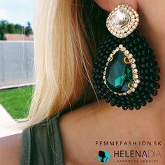 Nádherné, jednoduché, neprehliadnuteľné handmade náušnice Helenadia- Malory http://femmefashion.sk/helenadia/3029-nausnice-helenadia-malory.html