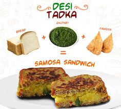 Give your videsi #sandwich a desi tadka by using #samosa as the filling.
