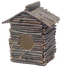 Bird House, twigs on milk or juice carton