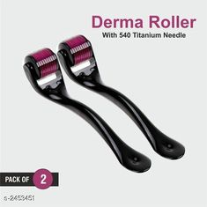 Hair Accessories Tokree Premium Choice 0.5 mm Derma Roller(Pack of 2) Product Name: Tokree 0.5 mm Derma Roller  Material: Plastic & Stainless steel   	  Brand Name: Tokree Product Type: Derma Roller Product Description: Tokree derma roller is a handheld roller-device covered in microneedles needles ranging in length from 0.25 mm to 1.5m which is rolled over the skin. This is done in order to create tiny punctures on the skin which triggers skin repair, leading to the creation of new collagen. Package Contains: It Has 2 Pieces of Derma Roller Sizes Available: Free Size *Proof of Safe Delivery! Click to know on Safety Standards of Delivery Partners- https://ltl.sh/y_nZrAV3  Catalog Rating: ★4.1 (670)  Catalog Name: Hair Tokree Premium Choice Derma Roller Vol 1 CatalogID_329104 C50-SC1815 Code: 272-2453451-