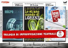 """TG Musical e Teatro in Italia: Al Teatro Hamlet """"Trilogia d'Improvvisazione Teatr..."""