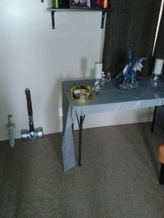 another table in the dining area for props