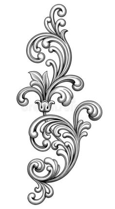 DESiGN ELEMENTS on Behance Retro Pattern, Pattern Design, Simple Pattern, Print Design, Graphic Design, Baroque, Design Your Tattoo, Victorian Frame, Blue And White Fabric