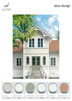 undefined Exterior Paint, Interior And Exterior, Classroom Halloween Party, Sweden House, Ikea, Color Scale, The Doors, House Doctor, House Painting