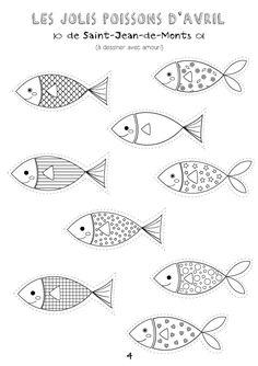 Le 1er Avril approchant à grands pas, ma mission du jour était de dessiner des coloriages poisson d'Avril à télécharger pour les fans et e... Fish Crafts, Crafts To Make, Arts And Crafts, Paper Crafts, Fabric Fish, Felt Fish, Presents For Boyfriend, Sea Theme, Fish Design