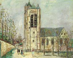 Maurice Utrillo, Eglise de la Ferté-Milon (Aisne)