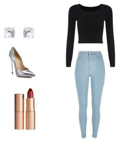 A fashion look from December 2015 featuring long sleeve tops, blue jeans and high heel shoes. Browse and shop related looks. Nadine Lustre Outfits, Charlotte Tilbury, Polyvore Outfits, Blue Jeans, River Island, Long Sleeve Tops, Cute Outfits, Shoes Heels, Fashion Looks