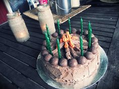 Wild West Camping Party: Easy Campfire Birthday Cake tutorial