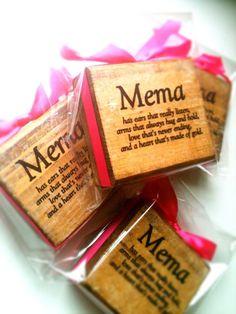 Mema Wood Block by DesignsBySyds on Etsy, $8.99