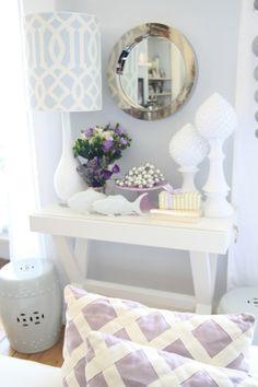 white porcelain & garden stool... love.