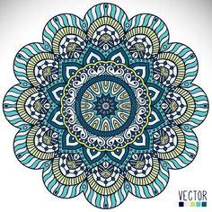Mandala background. Vintage decorative elements. Hand drawn background photo