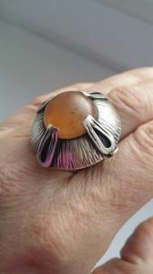 Orno.Srebrny pierścionek