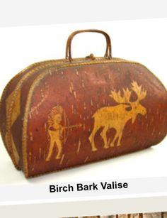 Winter harvest birch bark valise