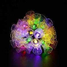 Lightess Solar LED String Fairy Christmas Lights for Outdoor Decorations with 30 Leds Multi Color Bell
