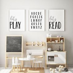 DIGITAL FILES Set of 3 Playroom Prints Kids Room Decor   Etsy