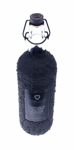 A 'Heavyweight', Manly Beer Bottle Made With A Concrete Surface