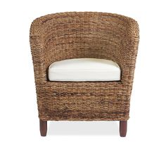 Madrid Woven Chair - Constructed of hand woven natural sea grass with mahogany frame and legs, the Madrid makes the perfect chair. Features a 100% cotton linen cushion. Limited