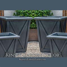 Directoire Large Square Outdoor Planters Set | Kinsey Garden Decor