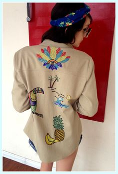 CoachellaOutfit Of The Day: Day 7! Channel your inner flower-child with thisMara Hoffmanbeaded jacket, cut offs and anativeLAfloral headband!
