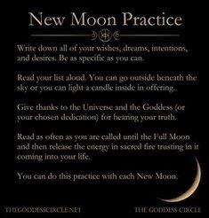 New moon ritual New Moon Rituals, Full Moon Ritual, Full Moon Spells, Midlife Crisis, Mantra, Affirmations, Tarot, Positive Energie, Religion