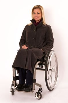 c1d122c5 Grey Spinal Cord Injury, Funnel Neck, Outerwear Women, Fashion Coat, Winter  Fashion
