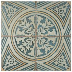 Add a touch of vintage industrial design to your home decor by choosing this Merola Tile Kings Flatlands Ceramic Floor and Wall Tile. Tiles Texture, Old World Style, Distressed Painting, Stone Tiles, Concrete Tiles, Shower Floor, Rustic Charm, Tile Patterns, Vintage Industrial