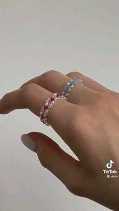 Handmade Jewelry Tutorials, Handmade Wire Jewelry, Wire Wrapped Jewelry, Diy Jewelry, Jewelry Rings, Jewelry Design, Jewelry Making, Diy Rings, Cute Rings