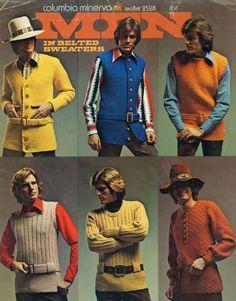 "70s-men-fashion. Nyhetsbrevet ingen kan leva utan: ""Men in belted sweaters""!"
