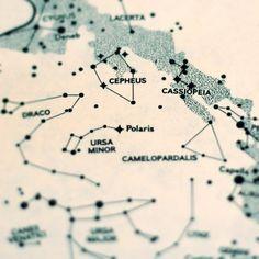 Star map photograph constellations Greek mythology by diemdesign, $12.00