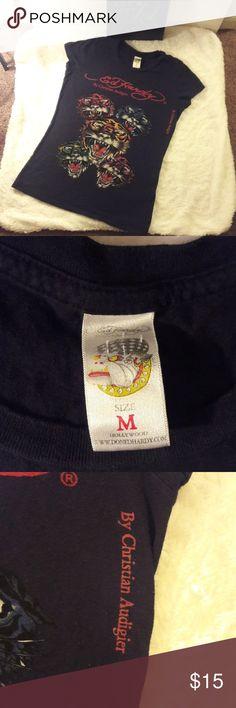 Ed Hardy Tiger head shirt Used Ed Hardy Tops Tees - Short Sleeve