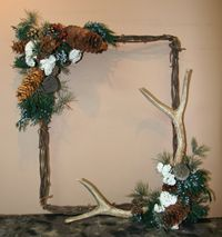 Antler and Wild Berry Wreath