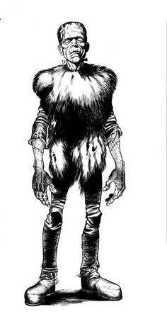 Frankenstein's Monster By Bernie Wrightson.