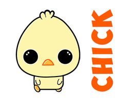 Learn how to draw cute baby chibi chicks for Easter or Spring with easy to follow step by step instructions perfect for young or older children. This drawing is made with very simple shapes, including letters and numbers.