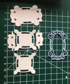 Use creatables Petra van Dam LR0240 die to create little squares, in your Big Shot.