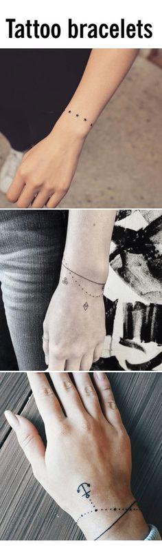 The prettiest tattoo bracelet designs #TattooDesignsArm