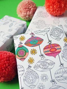 Free printable Christmas wrap and tags - Lisa Tilse for We Are Scout