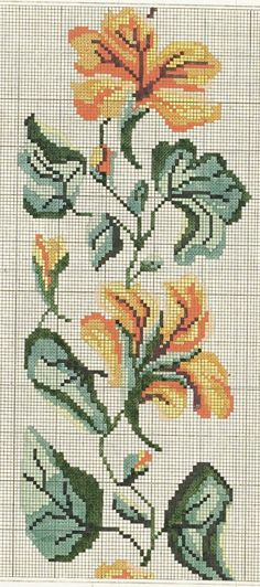 This Pin was discovered by Zey Just Cross Stitch, Cross Stitch Borders, Cross Stitch Flowers, Cross Stitch Designs, Cross Stitching, Cross Stitch Embroidery, Hand Embroidery, Embroidery Patterns, Cross Stitch Patterns