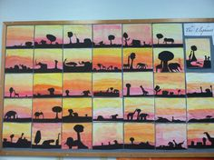 "African Sunset Art - ""It is the supreme art of the teacher to awaken joy in creative expression and knowledge.""  - Albert Einstein"