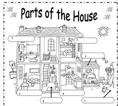 Maestra de Inglés y Primaria: Vocabulario de la casa - House ...