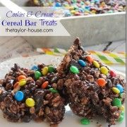 Cookies and Cream Cereal Bar Treats