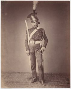 Monsieur Verlinde of the 2nd Lancers, 1815  // c. 1858: Photos of Veterans of the Napoleonic Wars