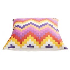 SASSON HOME - PIXEL MULTI DHURRIE CUSHION - Crate Expectations