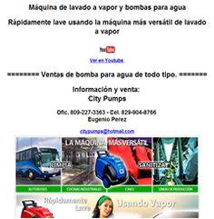 Máquina de lavado a vapor y bombas para agua Rápidamente lave usando la máquina más versátil de lavado a vapor  Ver en Youtube ======== Ventas de bomba para agua de todo tipo. ======= Información y venta: City Pumps Ofic. 809-227-3363 - Cel. 829-904-8766 Eugenio Perez